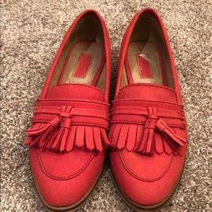 TopShop Salmon Red Loafers size 38/7.5-8